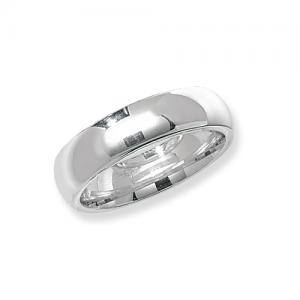 Silver Wedding Ring 6mm size T
