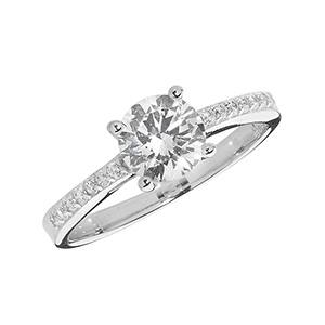 Silver Ladies CZ Ring