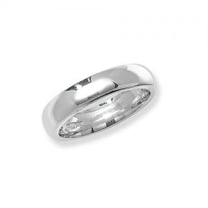Silver Traditional Court 5mm Wedding Ring X