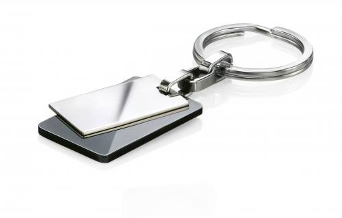 Stainless Steel Black Keyring