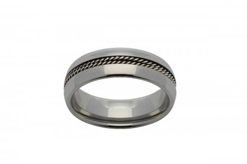 Tungsten Ring With Steel Wire 7mm
