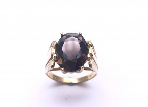 9ct Yellow Gold Smokey Quartz Ring