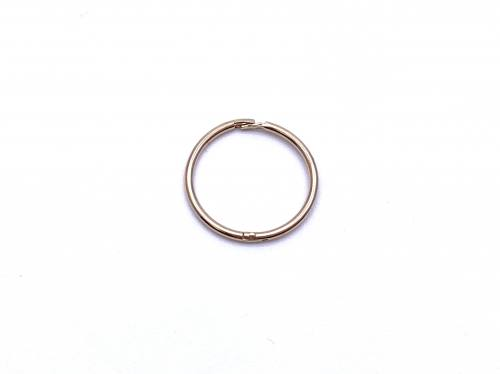 9ct Yellow Gold Hinged 10mm Ring