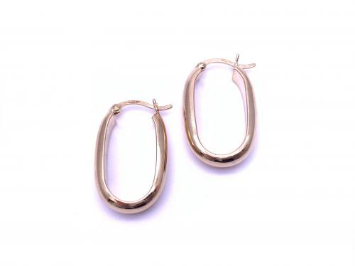 9ct Oval Hoop Earrings