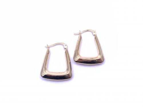 9ct Handbag Style Hoop Earrings