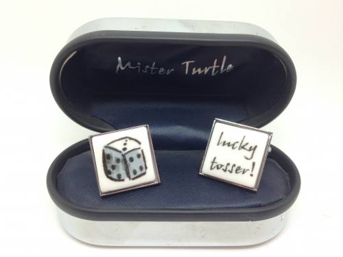 Cufflinks Lucky T..... ! Dice Base Metalcufflinks