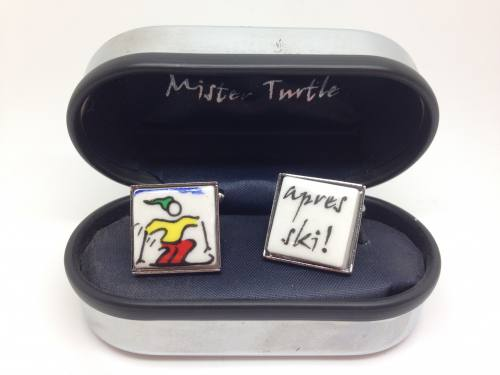 Cufflinks - Apres Ski - Base Metal