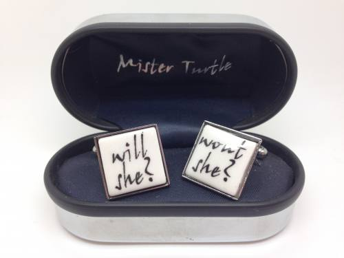 Cufflinks - Will She Wont She - Base Metal