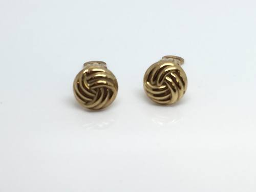 9ct Yellow Gold Knot Clip On Earrings