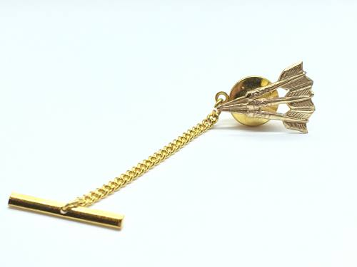 9ct Yellow Gold Darts Tie Tack