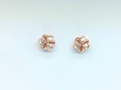 9ct Rose Gold Knot Stud Earrings