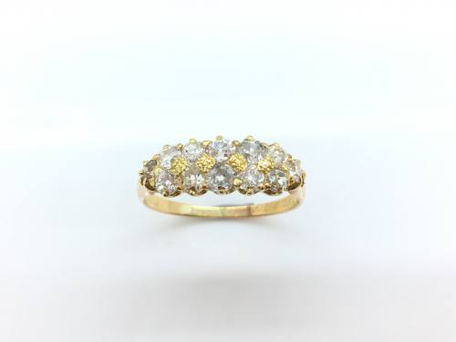 An Old Diamond Cluster Ring Approx 0.90ct