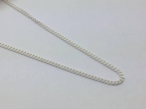 Silver Fine Curb Chain 20 Inch