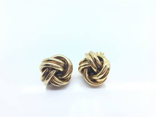 9ct Yellow Gold Large Knot Studs