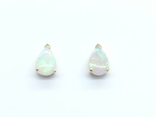 9ct Yellow Gold Pear Shaped Opal Stud Earrings