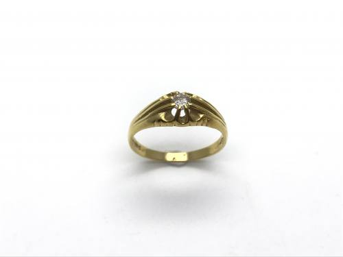 18ct Yellow Gold Gents Diamond Ring