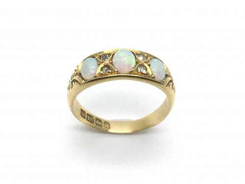 Victorian 18ct Opal and Diamond Ring 1900