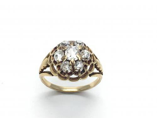 An Old Diamond Cluster Ring