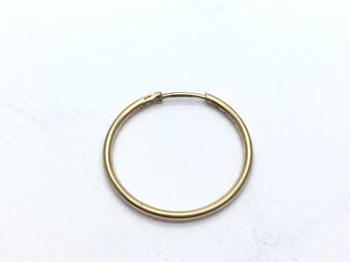Secondhand 9ct Yellow Gold Patterned Sleeper 18mm