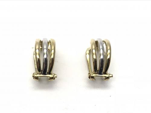 9ct Two Colour Pair of Clip On Earrings