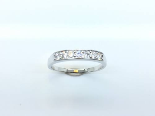 Silver CZ Eternity Ring