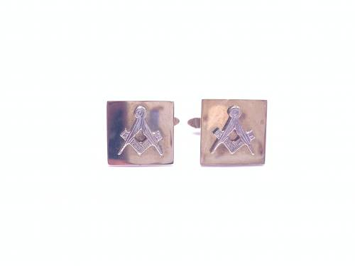9ct Yellow Gold Square Masonic Cufflinks