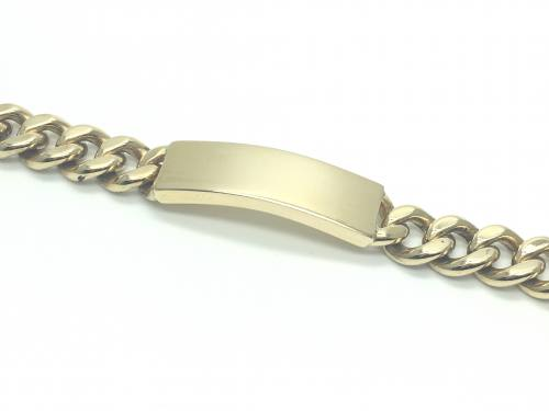 9ct Yellow Gold ID Bracelet 8 1/2 Inch