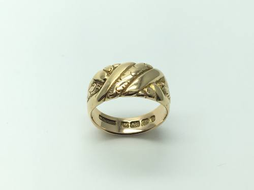 An Old 18ct Yellow Gold Fancy Ring Birmingham 1901