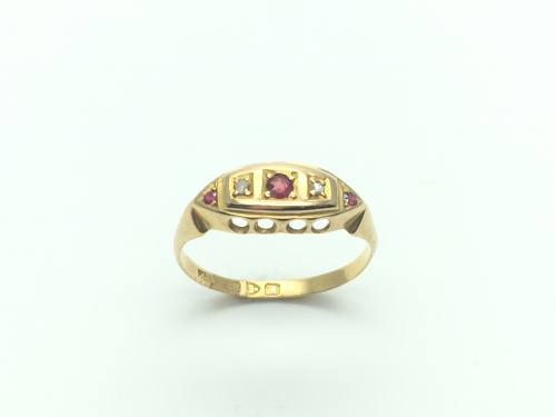 18ct Ruby & Diamond Ring Chester 1912