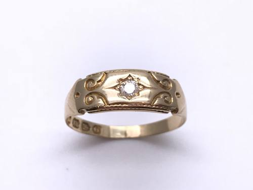 An Old 18ct Diamond Ring Chester 1890