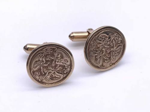 9ct Yellow Gold Celtic Cufflinks