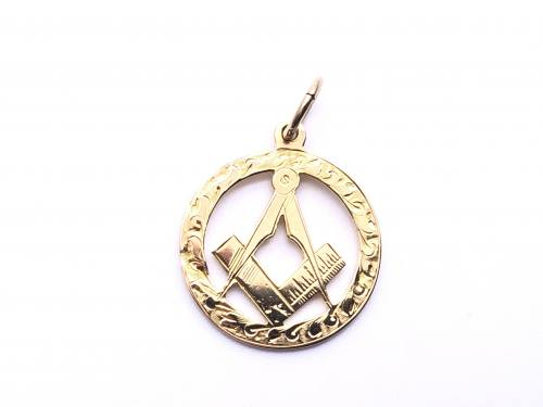 18ct Yellow Gold Masonic Pendant
