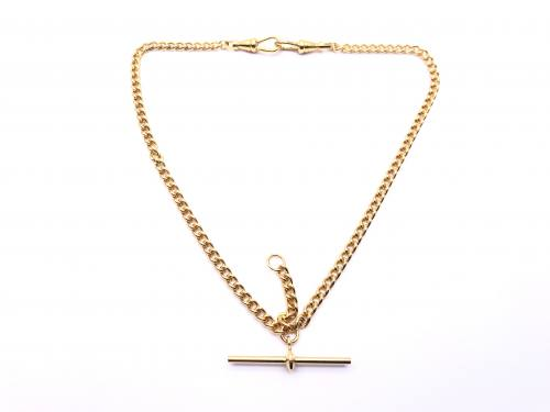 Gold Plated Medium Double Albert Style Chain