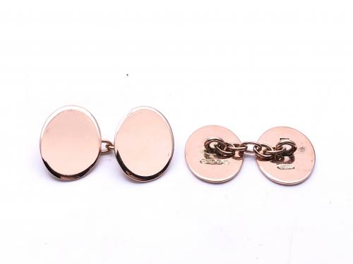 9ct Rose Gold Chain Cufflinks