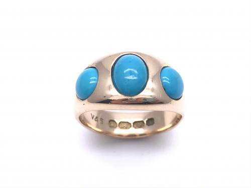 18ct Yellow Gold Turquoise Ring