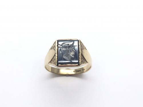 9ct Carved Haematite Ring