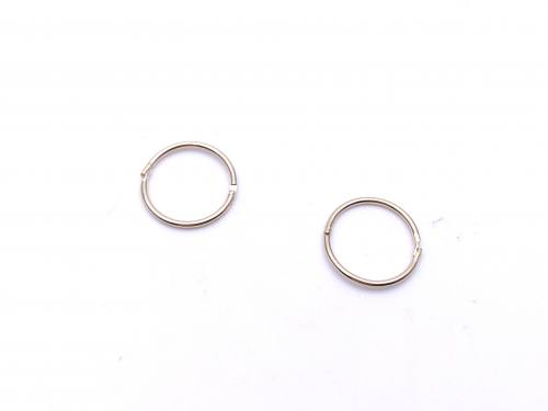 9ct Yellow Gold Hinged Sleepers 10mm