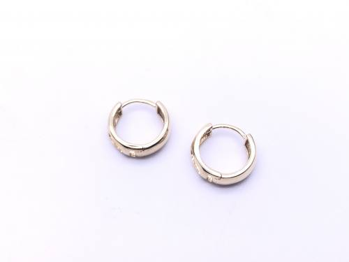 9ct Yellow Gold Huggie Earrings