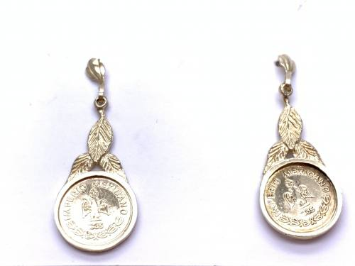 9ct Yellow Gold Coin Drop Earrings