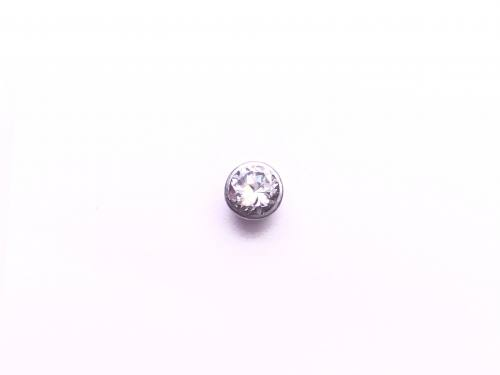 18ct Single Diamond Stud Earring