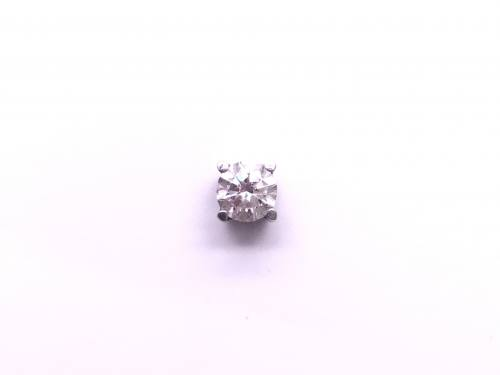 Single Platinum Diamond Stud Earring