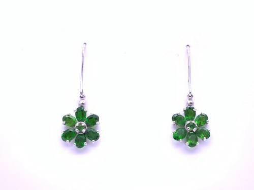 9ct Chrome Diopside Earrings