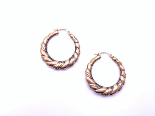 9ct Twist Hoops