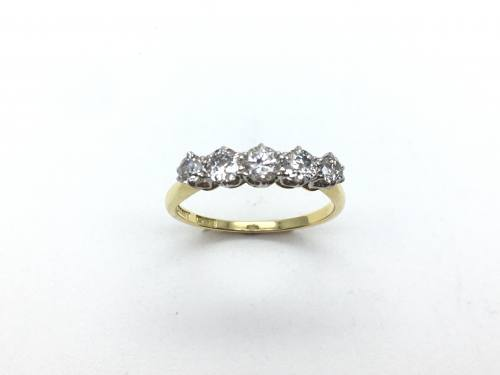 An Old Diamond Five Stone Ring