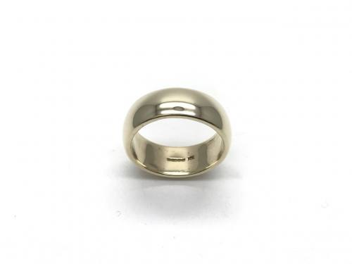 9ct Yellow Gold Wedding Ring 8mm