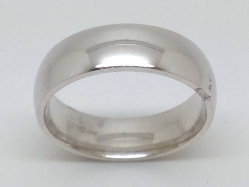 Silver Traditional Court Wedding Ring 7mm Z