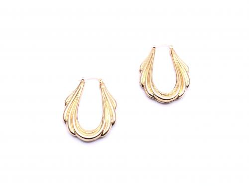 9ct Fancy Hoop Earrings