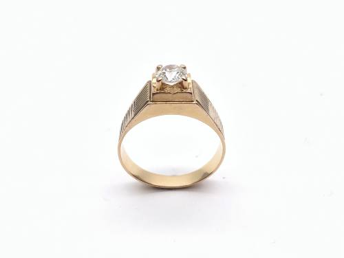 An Old Cut Diamond Gents Ring