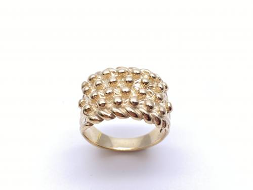9ct Yellow Gold Gents Keeper Ring