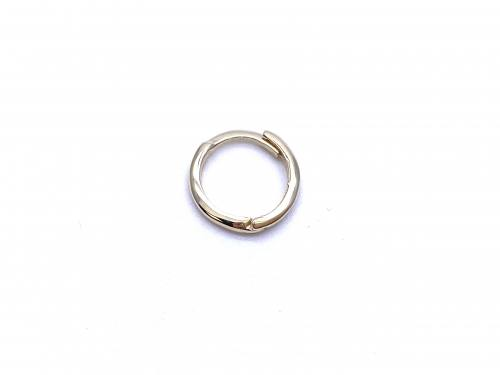 9ct Yellow Gold Hinged 8mm Ring